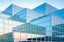 شیشه ساختمان