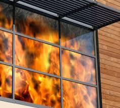 شیشه ضد حریق